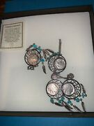 Buffalo Nickel Dream Catcher Necklace Bracelet And Earrings Boxed Gift Set Of 3.