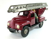 Extremely Rare Early Bulgarian Fire Truck Tin Plastic Toy Bulgaria 1950and039s See