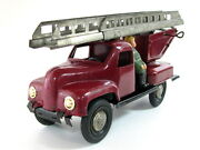 Extremely Rare Early Bulgarian Fire Truck Tin Plastic Toy Bulgaria 1950's See