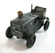 Early Rare Vintage Tin Toy German Tractor Gama Germany 1930's Wind Up Clockwork