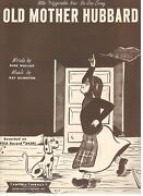 Ella Fitzgerald's New Be-bop Song Old Mother Hubbard Sheet Music-1949-new-mint