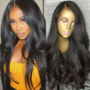 Glueless 100 Indian Human Hair Wig Bun Straight Lace Front Wig With Baby Hair H