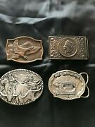 Vintage Belt Buckles Bts,adm, And More Lot Of 4 Worth The Look