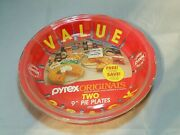 Brand New Vintage Pyrex Clear Baking Pie Pans Plates 9 Inch 209-tp 209