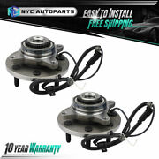 7 Stud Pair Front Wheel Bearing Hub For 2011-2014 Ford F-150 4wd 2wd W/ Payload
