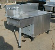 Stainless Steel Sink W Storage/ Ice Chest Tiny House Bar Or Food Truck 66