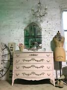 Painted Cottage Chic Shabby Romantic French Dresser And Mirror