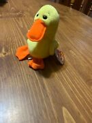 Quackers 1st Edition Rare Mint Condition Beanie Babies Retired-new Errors