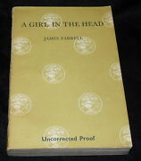 J G Farrell - A Girl In The Head - 1967 - Uncorrected Proof - His Third Novel