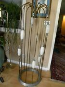 1960and039s Amazing Unique 63 Inch Tall Brass Cage Floor Lamp
