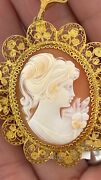 Cameo Pendant And Pin From The 1800and039s
