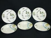 Edie Rose Home Bloom Collection By Rachel Bilson 3 Salad Plates 3 Soup Bowls