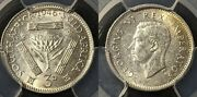 South Africa 1946 Threepence 3d Pcgs Ms61 Unc