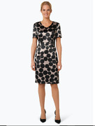 Gerry Weber Cocktail Dress With Dots Pattern-light Pink Size Uk 14 Rrp-andpound99