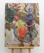 Still Life With A Decanter, Oil Painting, Impressionism, Art And Collectibles