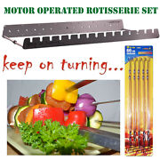 15 Skewer Automatic Rotating Bbq Rotisserie Rack Motor Operated Stainless Steel