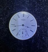 Vintage Elgin National Watch Co Pocket Watch Movement Serial 8646164 For Parts