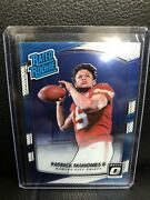 Patrick Mahomes 2017 Donruss Optic Rated Rookie 177 Chiefs.. Excellent