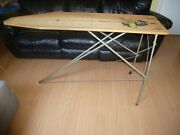 Auto Krat Antique Vintage Solid Wood And Metal Folding Ironing Board 1930s