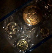 1776-1976 Uncirculated Bicentennial Silver + Gold Coins Mint/perfect Condition
