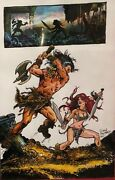 Savage Sword Of Conan Original Commission Art By Gary Kwapisz - Signed