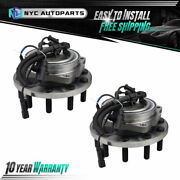2pc 10-lug Front Wheel Hub Bearing For 2011-2016 Ford F-450 F-550 Super Duty 2wd