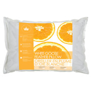 Canadian Down And Feather Co - White Goose Feather Pillow - 100 Cotton