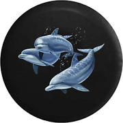 Spare Tire Cover Family Of Dolphins In The Ocean Sea Light Jk Accessories