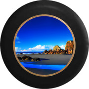 Spare Tire Cover Carribean Beach Bright Blue Sky And Water Jk Accessories