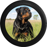 Spare Tire Cover Loyal Rottweiler In Field And039n Tan Dog Jk Accessories