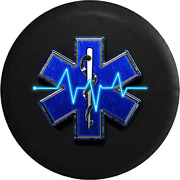 Spare Tire Cover Ems Emergency Medical Logo Snake Around Staff Jk Accessories