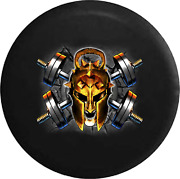 Spare Tire Cover Crossed Barbells Kettlebell Workout Jk Accessories