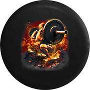 Spare Tire Cover Monster Weightlighting Squat Workout Barbell Gym Jk Accessories