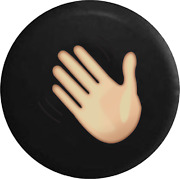 Spare Tire Cover Waving Hand Wave Text Emoji Jk Accessories