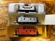 N Scale, Caboose, Various Mfgr And Roads, Nos, Price Is Per Car