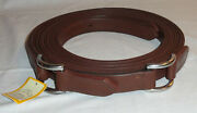 Pair 91 1/2 Ideal Equestrian Leather Carriage Driving Full Sz Roller Bolt Traces
