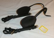 Nos Ideal Equestrian Leather Carriage Driving Cob Size Blinds Blinkers Blinders
