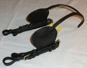 Ideal Equestrian Leather Carriage Driving Shetland Size Blinds Blinkers Blinders