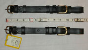 Pair Nos Ideal Equestrian Leather Carriage Driving Full Size Open Cheek Straps