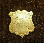Civil War Corp Badge Modified From Her Husband W/ Cdv Of Gw Gallup