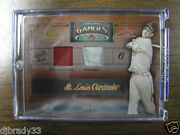 2005 Stan Musial Donruss Timeless Treasures Game Used Road Home Jersey 1/1 Card