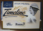 Stan Musial 2011 Prime Cuts Timeline Auto 06/10 His Jersey Number 1/1