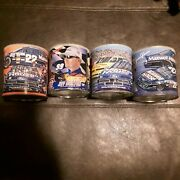 Reduced-vintage Retro Nascar Maxwell House Coffee Cans Lot Of 4