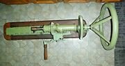 Vintage Manual Drill Press Hand Crank Wall Mount Steampunk Industrial 42