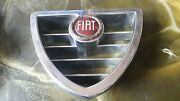 Fiat Old Classic Front Grill Emblem Enamelled Chrome Metal Very Rare
