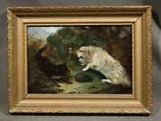 Terriers With Hedgehog Dog European Painting After George Armfield