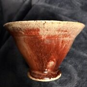 Very Old Antique Japanese Pottery Clay Bowl