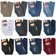 Mens 501 Prewashed Original Fit Straight Leg Button Fly Jeans Many Colors