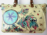 Anuschka Tuscan Sweet Dreams Hand Painted Leather Tote Purse - Nwt