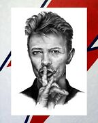 David Bowie Fine Art Limited Edition Print Hand-signed